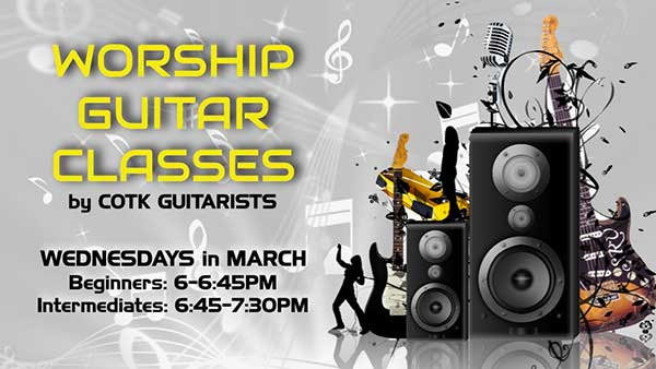 March Guitar Lessons