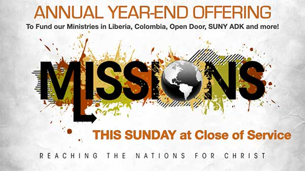 YEAR-END MISSION OFFERING